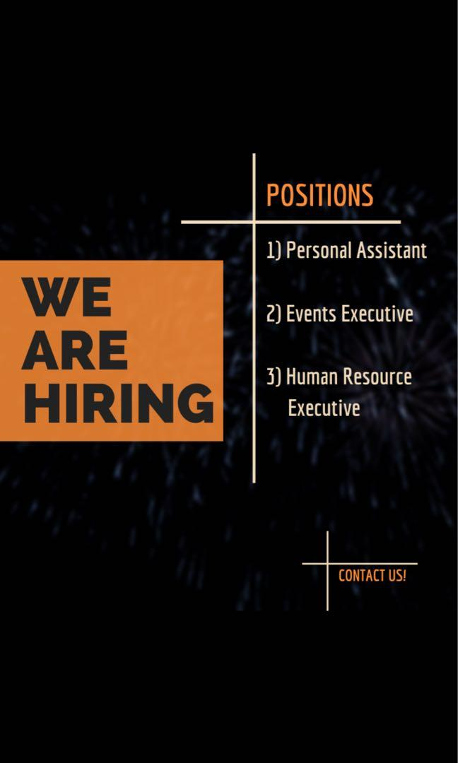Events Executive / HR Executive / Personal Assistant