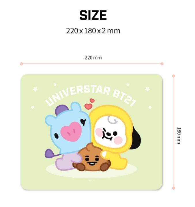 [PREORDER] OFFICIAL ROYCHE BTS BT21 BABY PVC MOUSEPAD