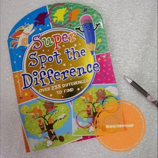 Super Spot the Difference Over 235 Differences Search and Find Kids Activity Book with Coloring