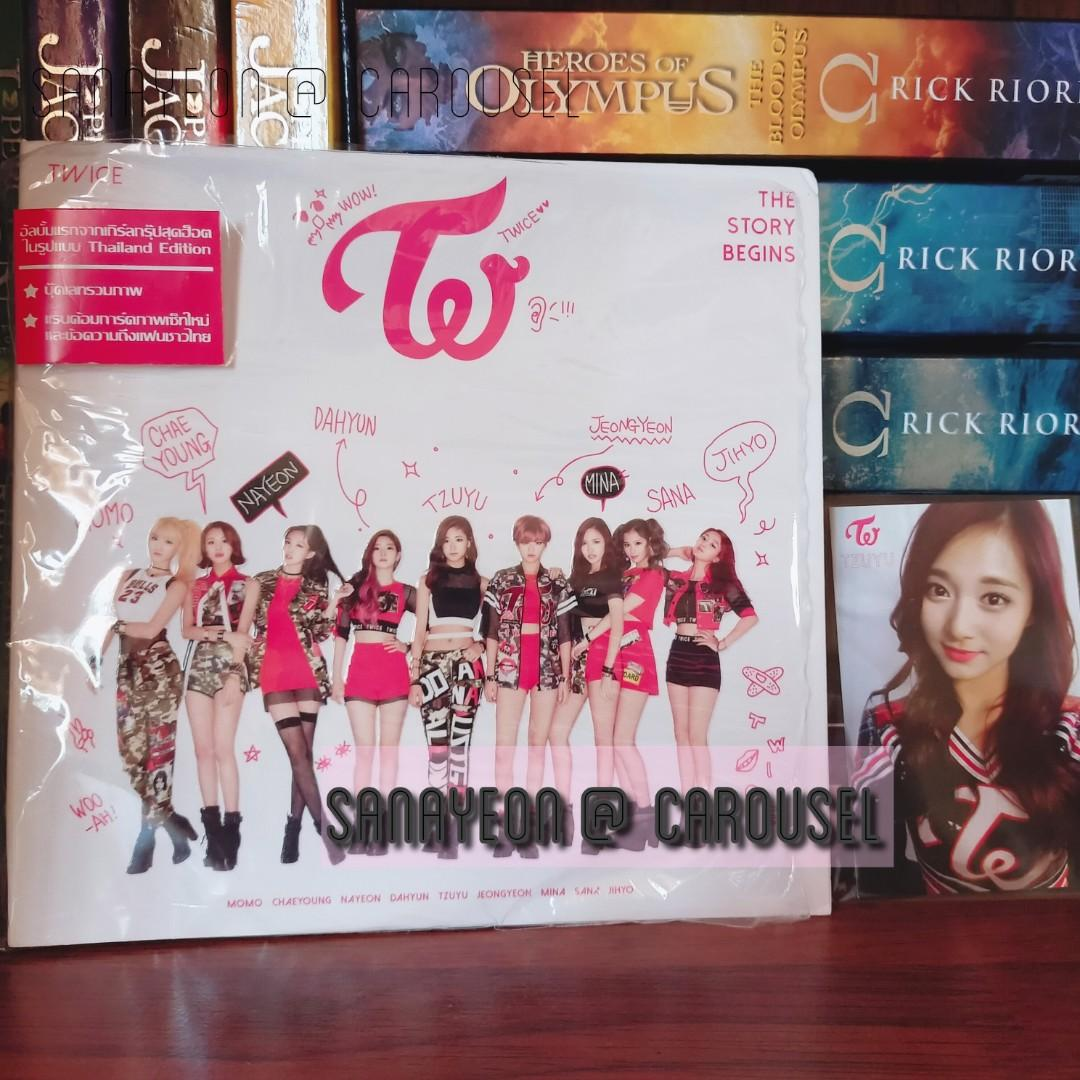 THAILAND EDITION TWICE THE STORY BEGINS ALBUM + TZUYU PHOTOCARD