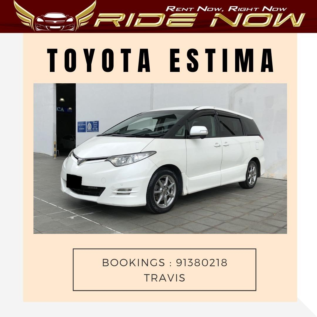 Toyota Estima 2.4A (8 seater) Pearl White Spacious MPV Great for Family Trips to Malaysia!
