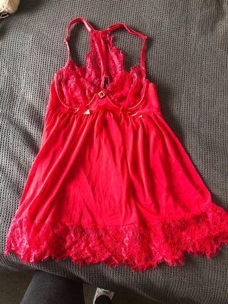 Red Lingerie Dress