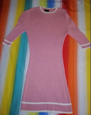 ZALORA Stripe Trim Bodycon Dress