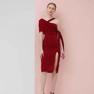 Coma label maroon dress