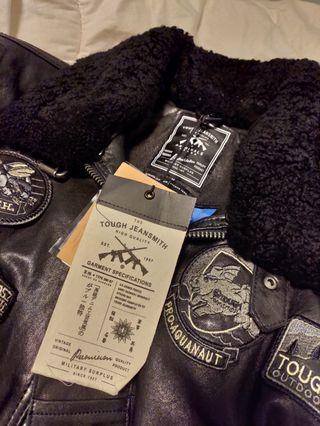 Tough jeansmith 絕版限量 小羊皮 真皮皮衣 專櫃 新品 復古 Lawis Schott Vanson