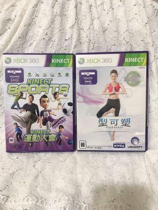 XBOX360 KINECT 遊戲光碟/遊戲片 買一送一 型可塑 (贈送運動大會)
