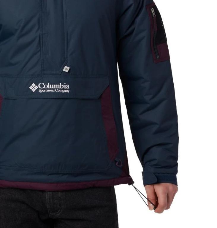 {英國代購} Columbia Challenger  現貨S 深藍 紫 防風 防潑水 羽絨 外套 帽T
