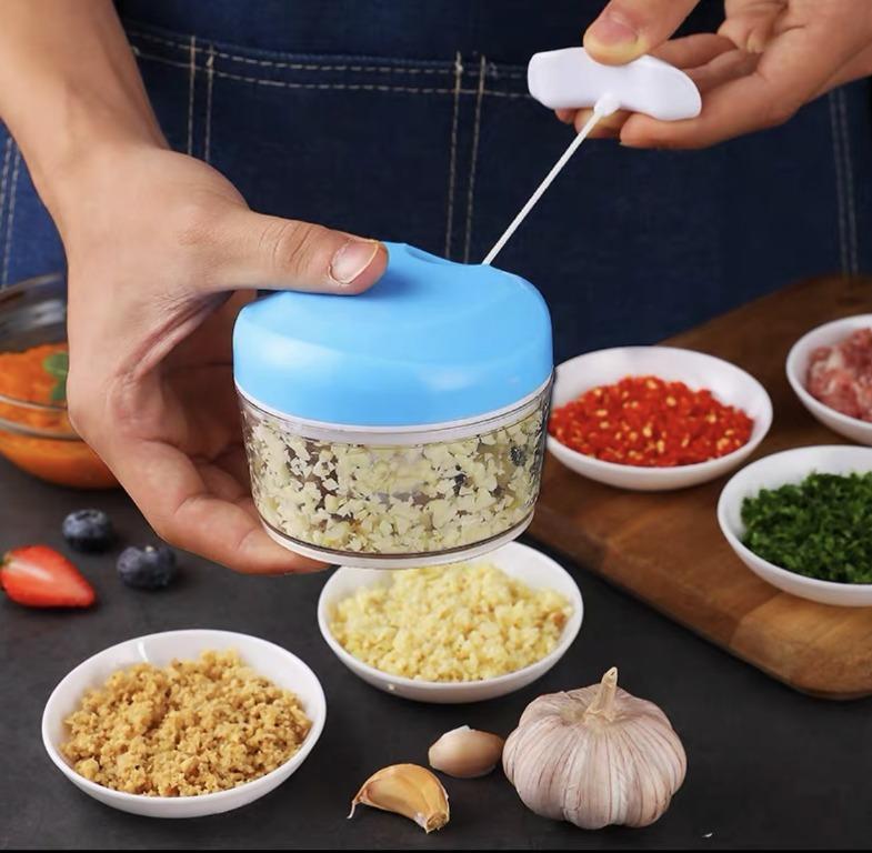 AMAZING GADGET!! Manual Pull Food Vegetable Chopper Shredder Cutter Slicer 170ML