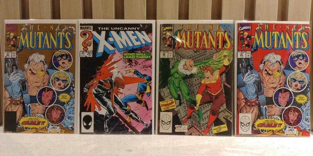 CABLE APPEARANCES LOT Uncanny X-Men (1963 1st Series) #201, New Mutants (1983 1st Series) #86 ,#87