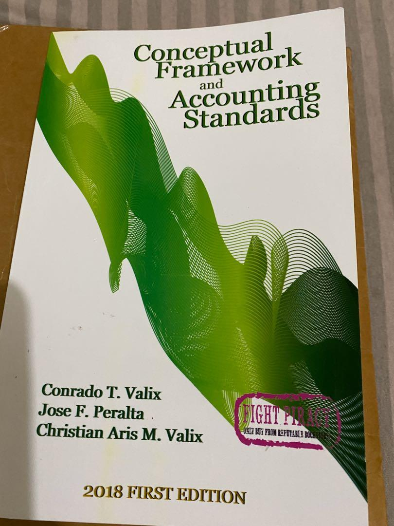 CONCEPTUAL FRAMEWORK AND ACCOUNTING STANDARDS 2018 VALIX (never been used)