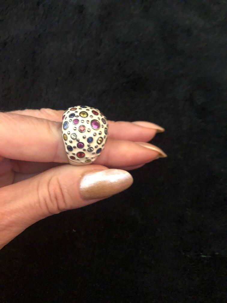 Designer ring. Buy for 600$. EFFY/silver and semiprecious stone