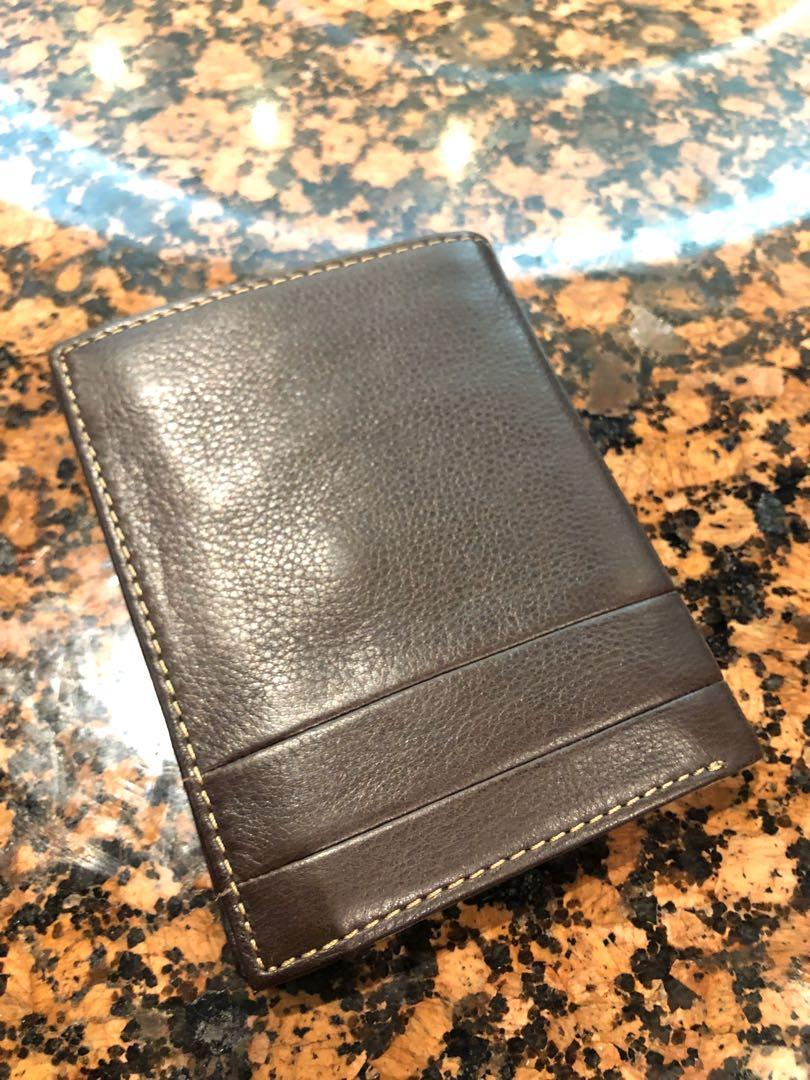 FOSSIL DERRICK RFID INTERNATIONAL COMBINATION mens leather wallet