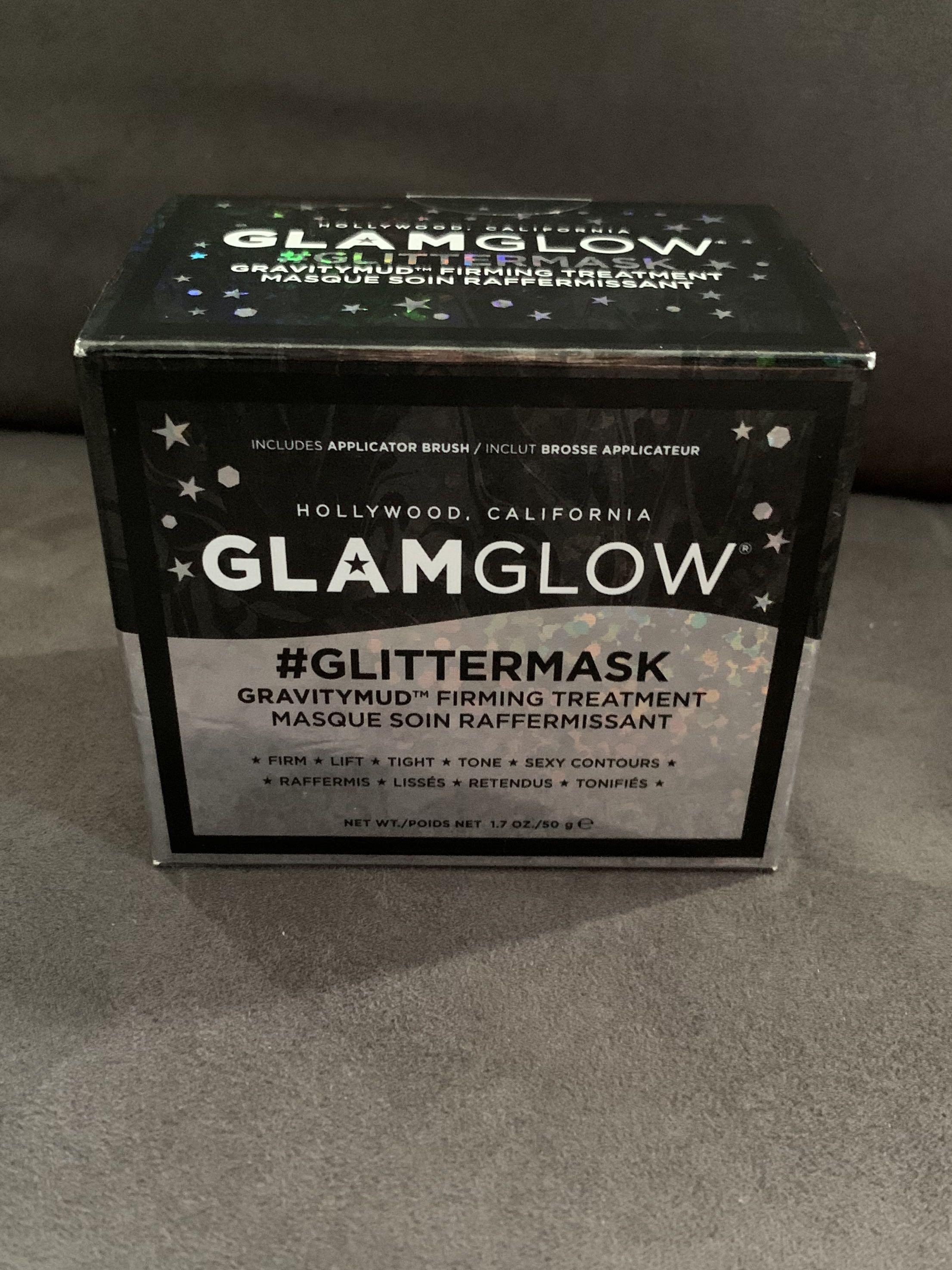 GlamGlow glitter mask gravitymud firming treatment 50g BNIB
