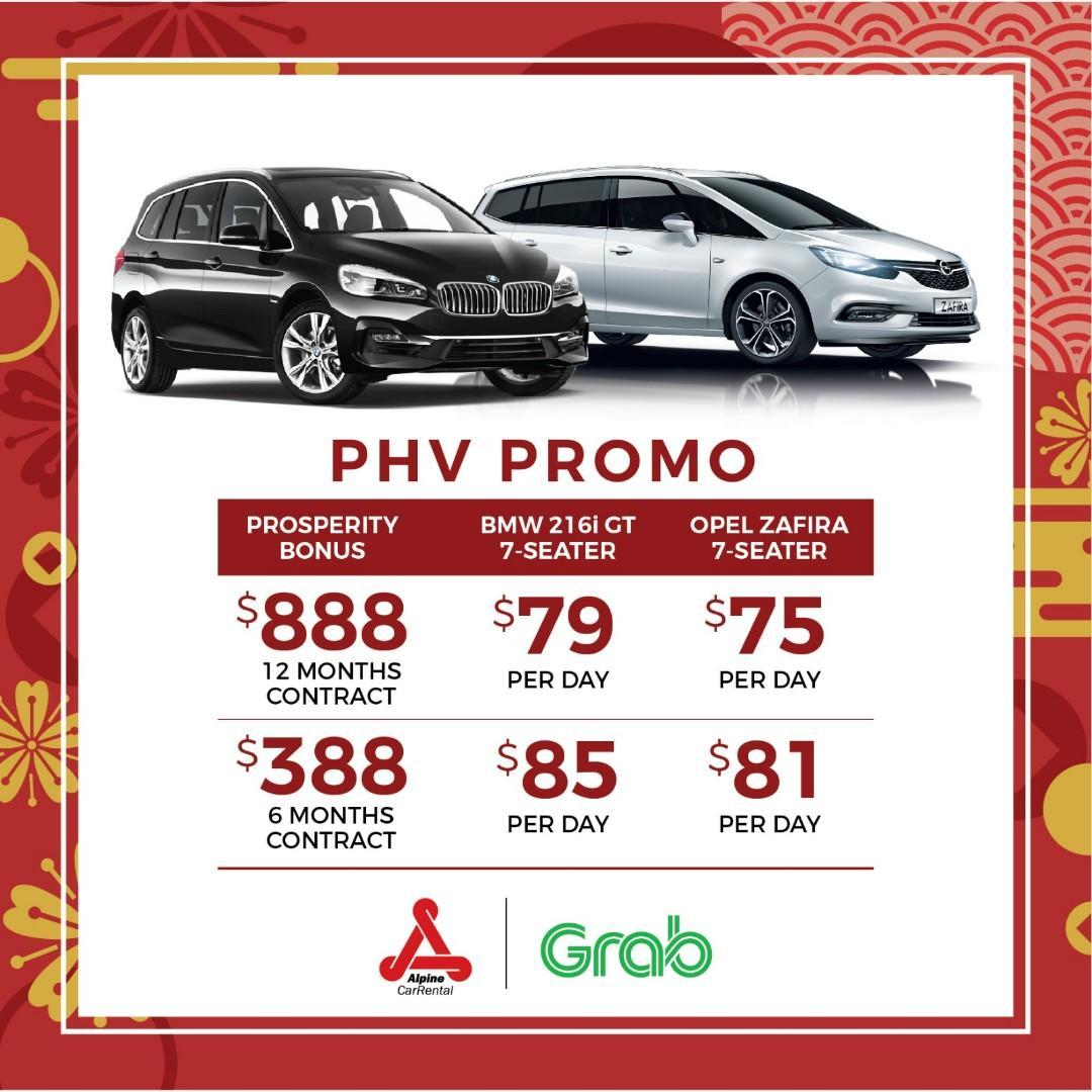(LILY) NEW PHV CNY PROSPERITY PROMOTION CAR RENTAL GRAB