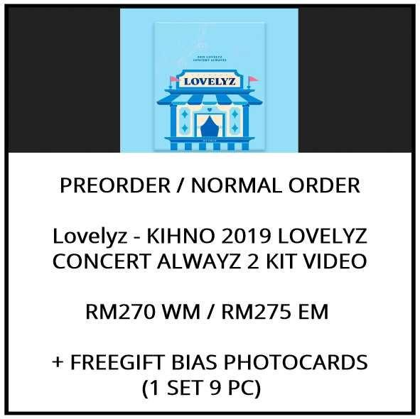Lovelyz - KIHNO 2019 LOVELYZ CONCERT ALWAYZ 2 KIT VIDEO  - PREORDER/NORMAL ORDER/GROUP ORDER/ALBUM GO + FREE GIFT BIAS PHOTOCARDS (1 ALBUM GET 1 SET PC, 1 SET GET 9 PC)
