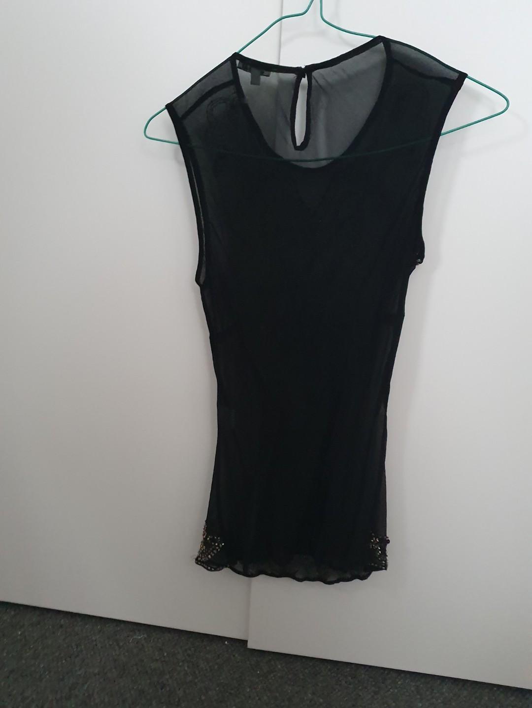 Miu Miu - black sheer beaded silk tank top - eur 38