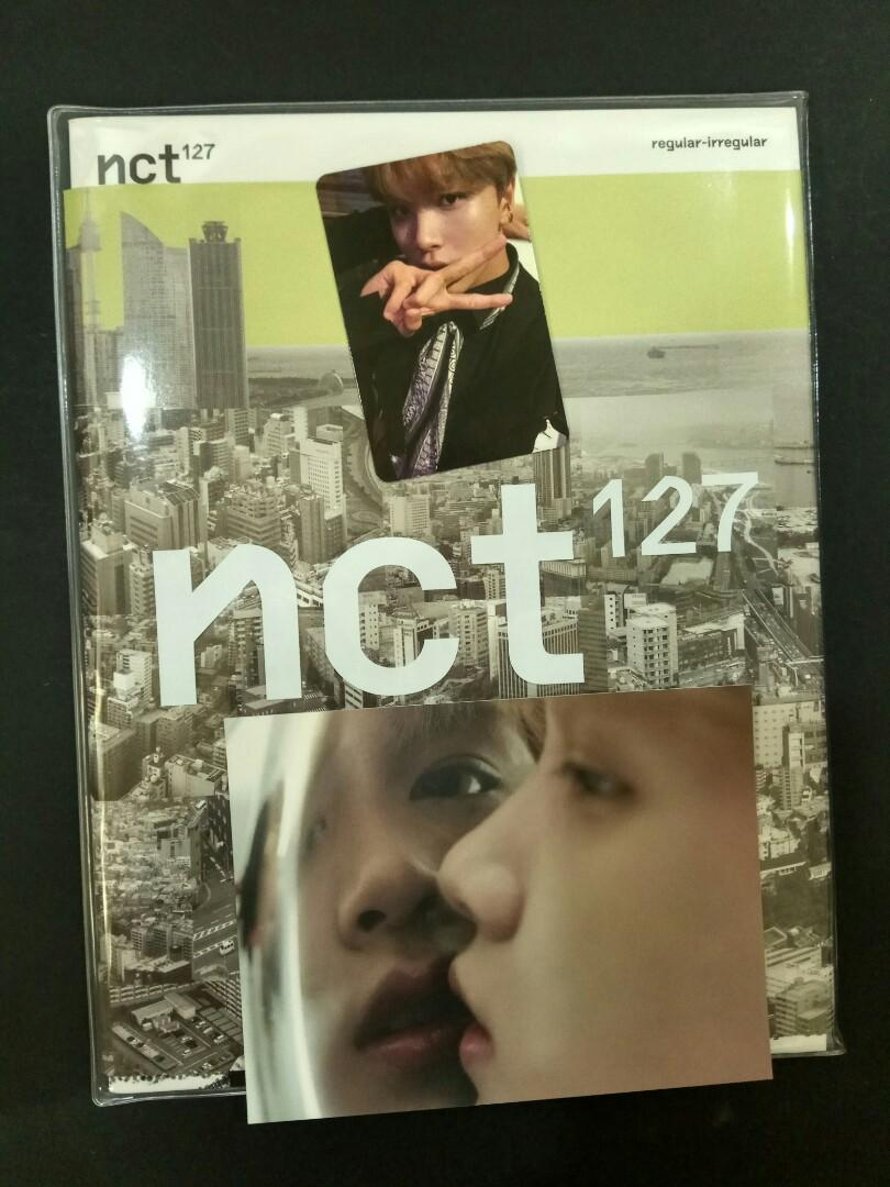 NCT 127 Regular irregular album haechan postcard and pc