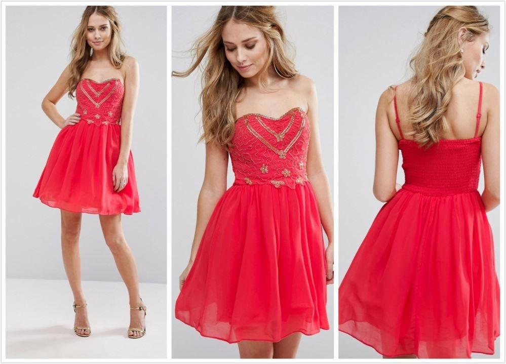 NEW* Gorgeous Coral Chiffon Cocktail Party Dress with detachable straps