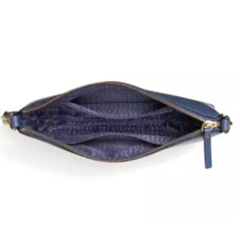 NEW Kate Spade New York Weller Street Declan Leather Crossbody Sling Bag (Cloud Cover - Blue)