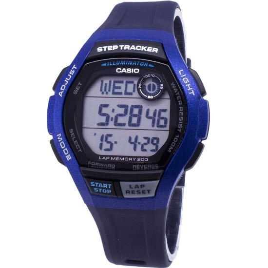 NEW🌟STEP-TRACKER : TOUGH CASIO UNISEX SPORTS WATCH : 100% ORIGINAL AUTHENTIC : By BABY-G-SHOCK ( GSHOCK ) COMPANY :  WS-2000H-2AVDF (BLUE-SWORDFISH)