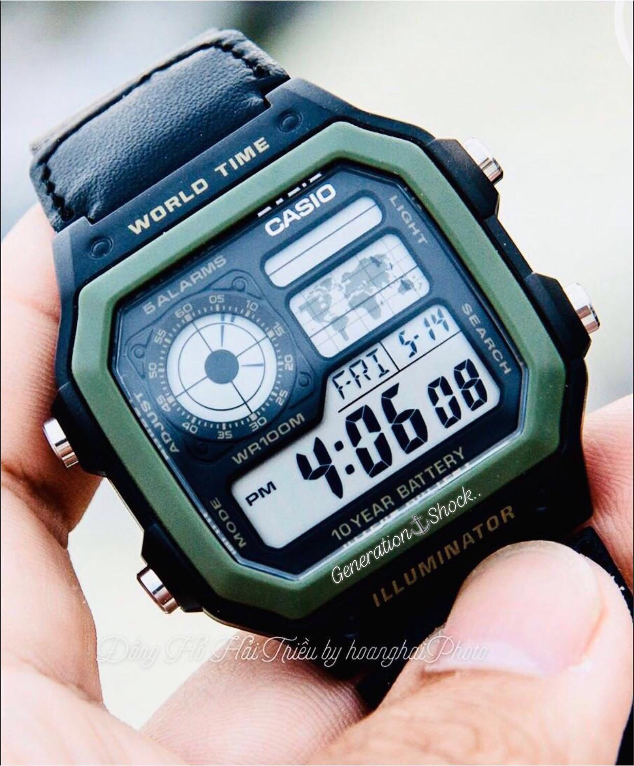 NEW🌟TOUGH CASIO UNISEX SPORTS WATCH : 100% ORIGINAL AUTHENTIC : By BABY-G-SHOCK ( BABYG GSHOCK ) COMPANY : AE-1200WHB-3BVDF / DW-5600BBN-1DR Series (MILITARY RAINFOREST)