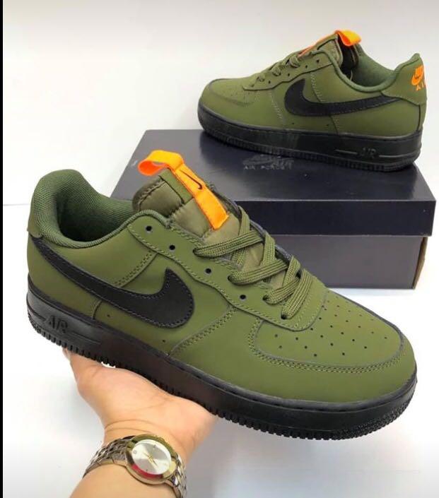niebla Molde Y  Nike Air force 1 07 Medium Olive black Starfish, Men's Fashion, Footwear,  Sneakers on Carousell