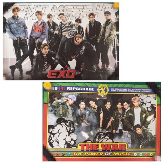 """Official Poster EXO """"Tempo"""" dan """"Power"""" Group Version (Free 18 Unofficial Photocards)"""