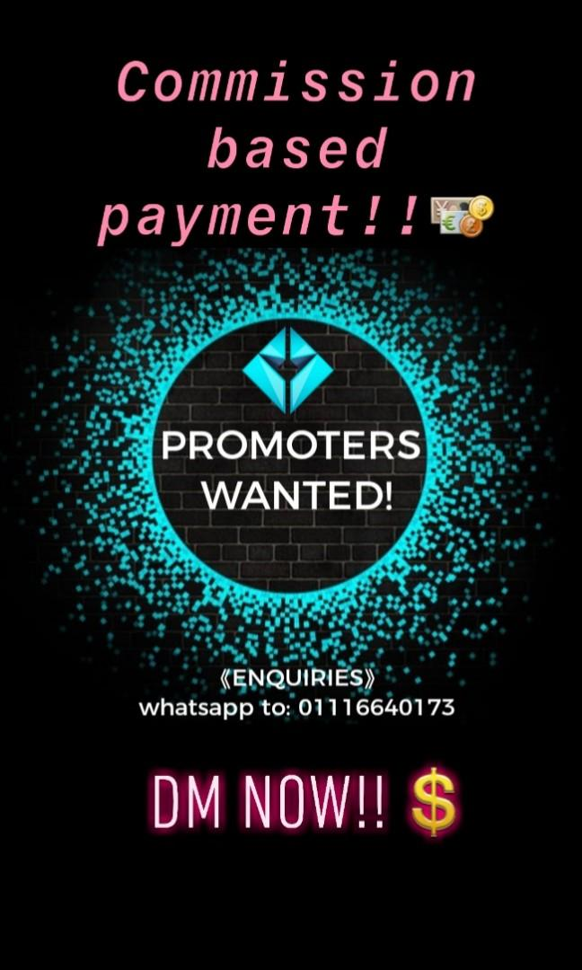 Part-Time Promoter WANTED URGENTLY!(MUST BE FLUENT IN ENGLISH)
