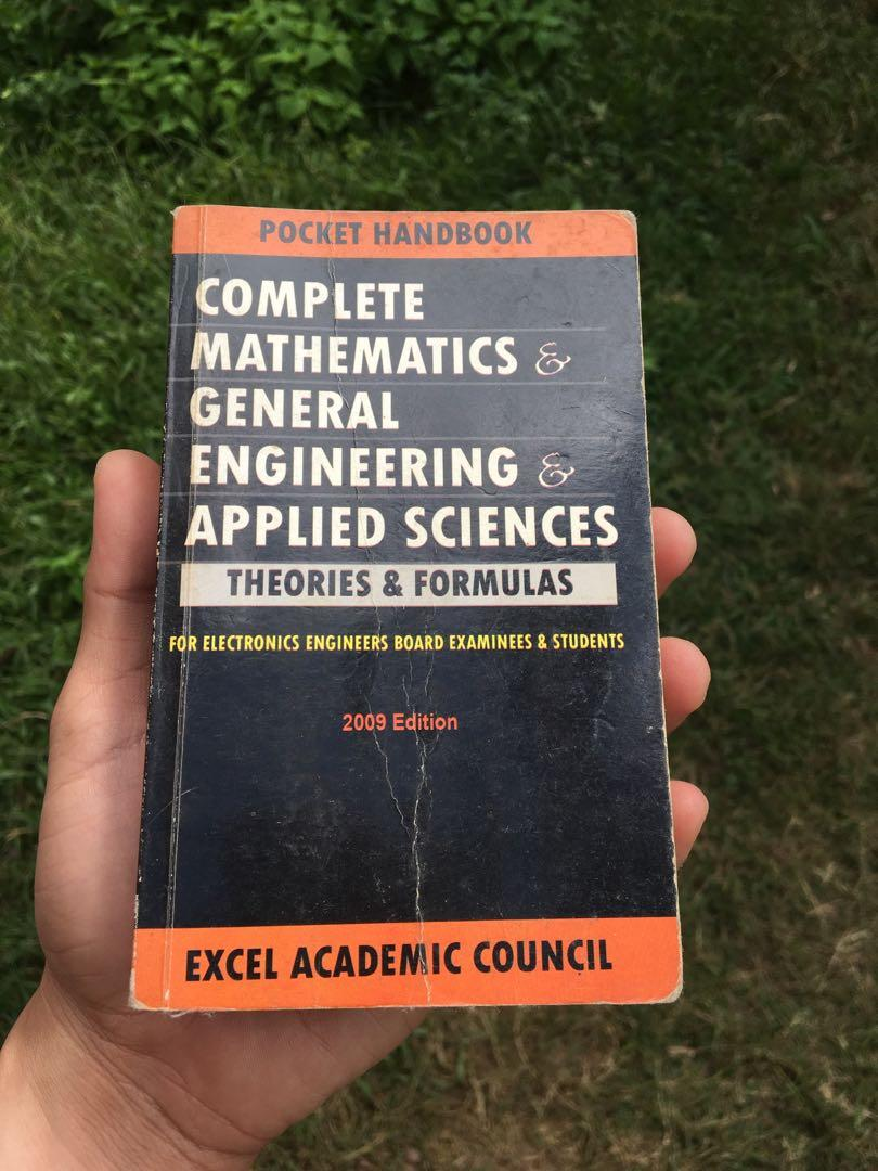 Pocket Handbook - Complete Mathematics General Engineering Applied Sciences Theories & Formulas