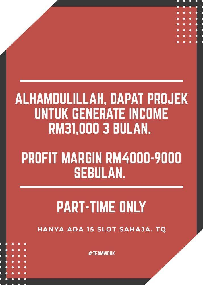 Tahu dan nilai sendiri bagaimana anda boleh generate income RM 4K dan ke atas dengan mudah melalui platform ni