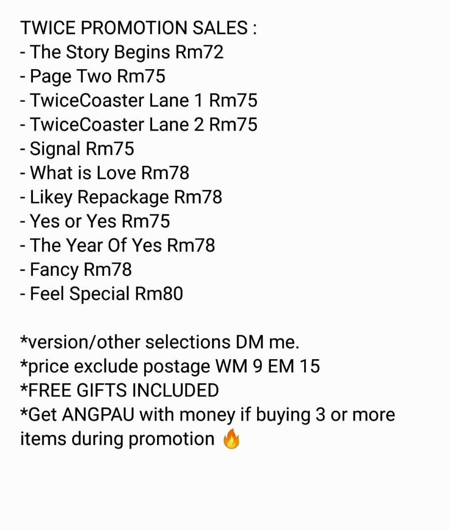 [TWICE PROMOTION] TWICE albums & merchandise & photobook sales