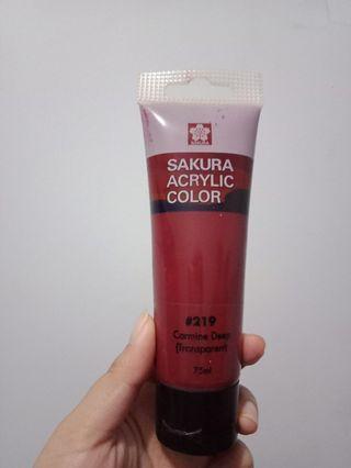 Sakura Acrylic Color Carmine Deep 75 ml