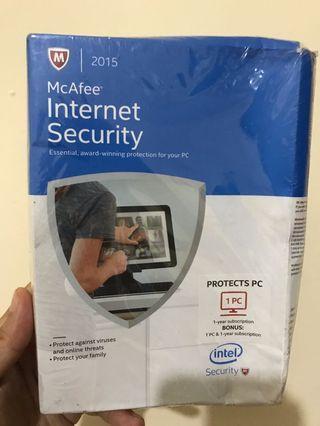 McAfee Interner Security 1 Tahun 1 PC + BONUS Last Stock