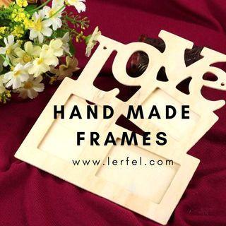 DIY Handmade Wooden Photo Frame (Valentine / Wedding / Proposal / Birthday / Anniversary)