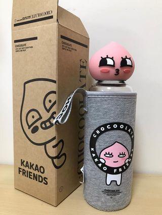 全新Kakao Friends Apeach 玻璃水樽連茶隔(附原裝盒)