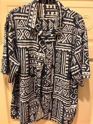 日式古著圖騰花襯衫