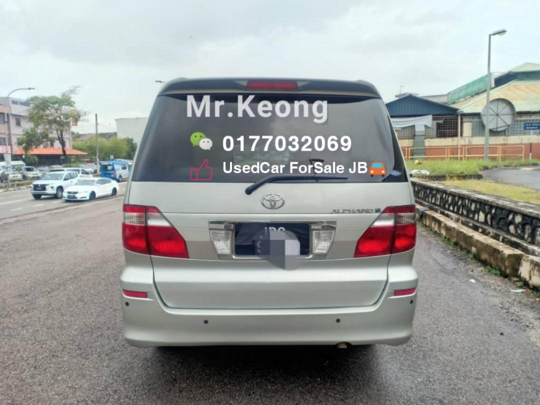 2005TH Made/12TH Reg TOYOTA ALPHARD 2.4AT 8 SEATER MPV Carking🚘1 POWER DOOR JohorPlate DOOR Cash OfferPrice💲Rm49,800 Only⚠️LowestPrice InJB🎉Call 📲KeongForMore🤗