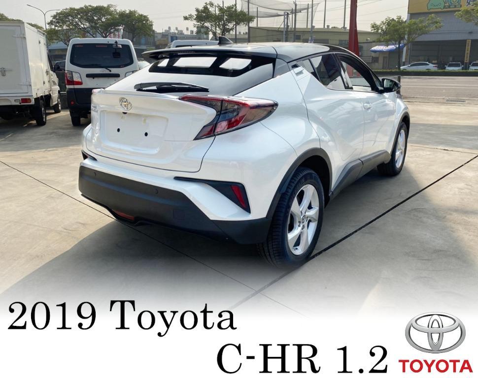 2019年 Toyota 豐田 C-HR 白 1.2 豪華版 黑車頂 影音版 跑9公里 全新~尾牙中獎車 全貸 免保人 超貸