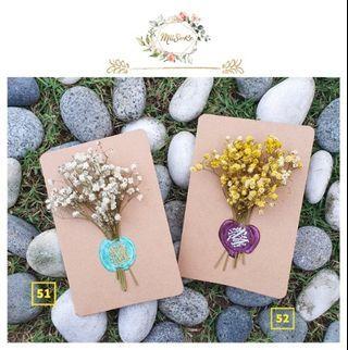 单色系满天星花卡 • Pure Theme Baby Breath Floral Card