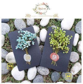 大自然系满天星花卡 • Natural Theme Baby Breath Floral Card