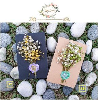 白色系满天星花卡 • White Based Baby Breath Floral Card