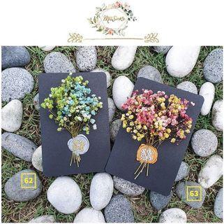 掺色系满天星花卡 • Mixed Colors Baby Breath Floral Card