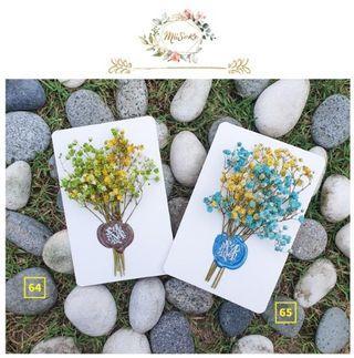 黄色系满天星花卡 • Yellowish Theme Baby Breath Floral Cards