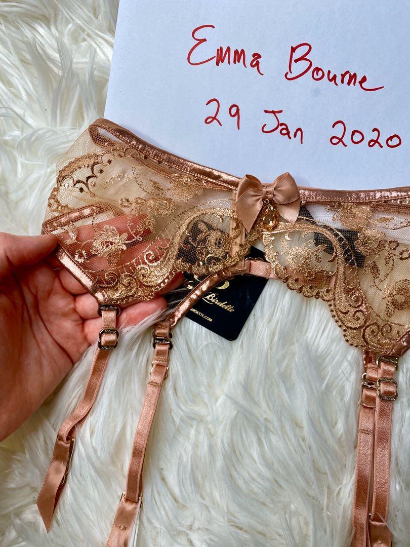 🌟 Brand New Honey Birdette Zoe Blush Suspender XS 🌟 Suspender Only BNWT