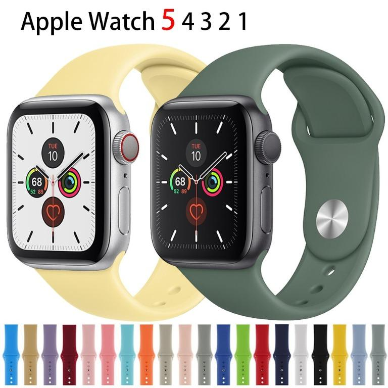 Apple Watch Series 5 4 3 2 1 strap 40mm 44mm 42mm 38mm soft silicone replacement sports wristband