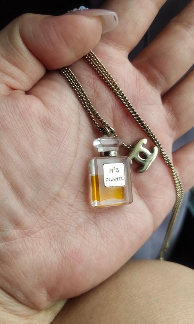 💯AUTHENTIC No.5 perfume necklace CHANEL gold chain chanel no 5 No. Mini perfume parfume #EarnXtra