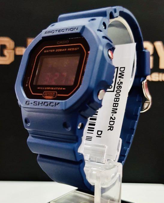 NEW🌟COUPLE💝SET : GSHOCK UNISEX DIVER SPORTS WATCH : 100% ORIGINAL AUTHENTIC CASIO BABY-G-SHOCK ( BABYG ) : DW-5600BBM-2DR / DW-5600BBM-2 / DW-5600-BBM-2 (ROSE-BLUE)