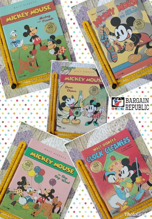 Disney Classic Mickey Mouse Storybook Collection for Toddlers Kids (Classic Disney Books Vintage Collection)