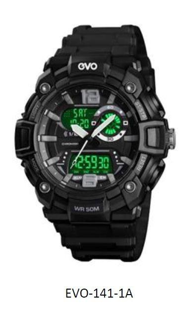 EVO-141 Men Analog Digital Sporty YOUTH Design Classic Black Resin Band Original Watch