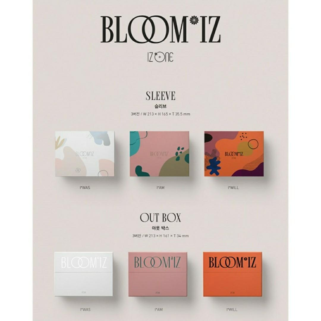 [FREE POSTAGE] SEALED IZ*ONE  IZONE BLOOM*IZ 1ST ALBUM